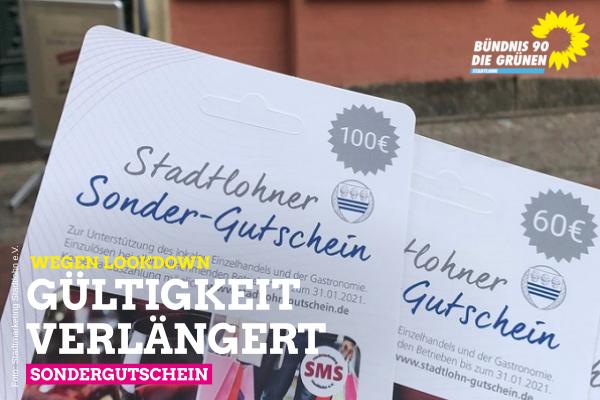 Stadtlohner Sondergutschein: Gültigkeit verlängert!